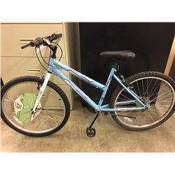 BLUE HUFFY GRANITE 18 SPEED MOUNTAIN BIKE