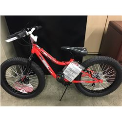 RED WICKED GRIZZLY 7 SPEED KIDS MOUNTAIN BIKE