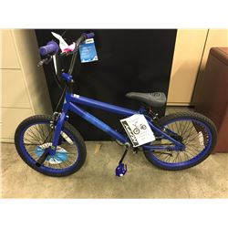 "BLUE HUFFY BRAZEN 20"" STUNT BIKE"