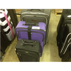 LOT OF 4 SUITCASES