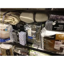 SHELF OF ASSORTED BEDDING