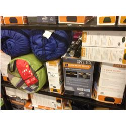 SHELF OF ASSORTED CAMPING GEAR
