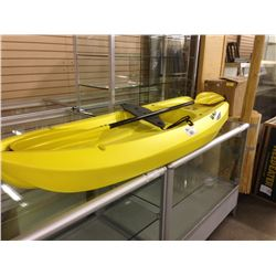 YELLOW LIFETIME WAVE KIDS 1 PERSON KAYAK WITH PADDLE , 130LBS MAX WEIGHT