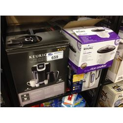 ASSORTED STORE RETURN PRODUCT INCLUDING A KEURIG, OSTER KETTLE AND A HAMILTON BEACH  TOASTER OVEN