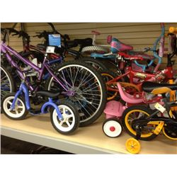 LARGE LOT OF ASSORTED BICYCLES