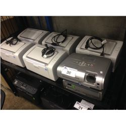 LOT OF 5 SAMSUNG PRINTERS AND 2 DIGITAL PROJECTORS