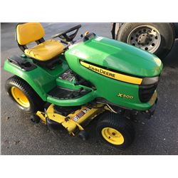 JOHN DEERE X500 MOWER 129.5HOURS