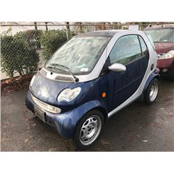 2005 SMART CDI, 2 DOOR, GREY, VIN # WMEAJ00F35J177103