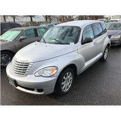 2007 CHRYSLER PT CRUISER, 4 DOOR SEDAN, GREY, VIN # 3A4FY48BX7T601004