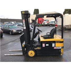 DAEWOO MODEL BC18T ELECTRIC FORKLIFT  S/N BM-00092