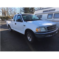 1997 FORD F-150 XL, 2 DOOR PU, WHITE, VIN # 2FTDX1721VCA68396