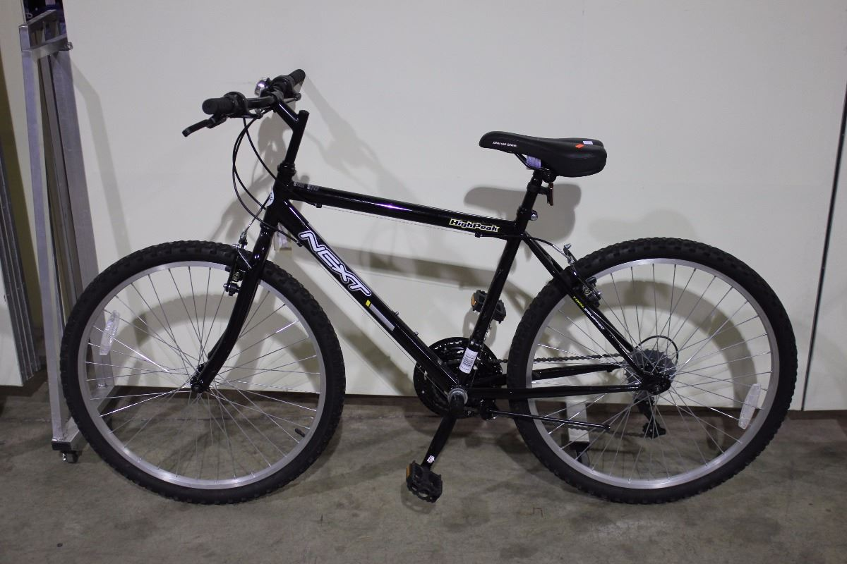 2 bikes black next mountain bike red supercycle front. Black Bedroom Furniture Sets. Home Design Ideas