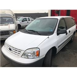 2004 WHITE FORD FREESTAR CARGO VAN 4.2L VIN 2FTZA54204BB19930