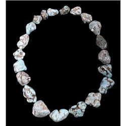 Navajo Dry Creek Turquoise Nugget Gem Necklace