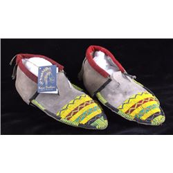 Blackfoot Native American Beaded Moccasins