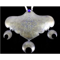 Hudson Bay Trade Brass Engraved Gorget Necklace