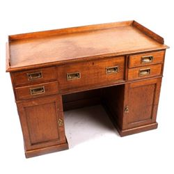 Early Architect's Quarter Sawn Oak Drafting Desk
