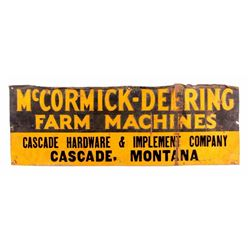 McCormick-Deering Sign From Cascade Montana c.1923
