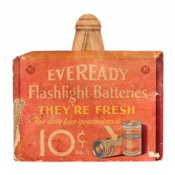 1930's Eveready Flashlight Battery Sign