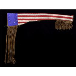 Sioux Patriotic Flag Beaded Rifle Scabbard 19th C.
