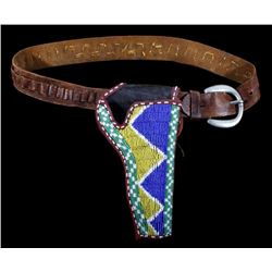 Sioux Beaded Colt SAA Holster & Belt 19th Century