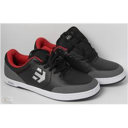 #25-ETNIES MARANA BLACK AND GREY SHOES