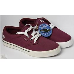 #34-ETNIES JAMESON 2 BURGUNDY SHOES