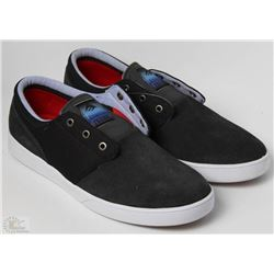 #41-EMERICA FIGUEROA DARK GREY AND BLACK SHOES