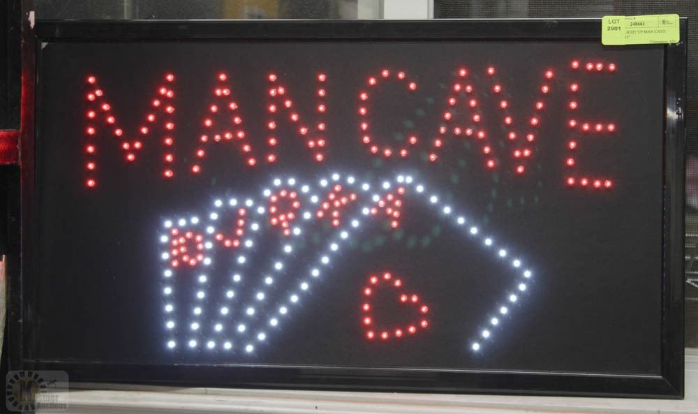Man Cave Signs That Light Up : Flashing light up man cave sign