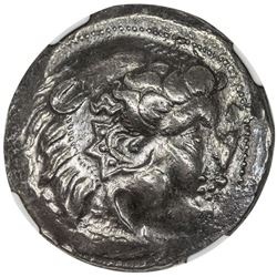 DANUBIAN CELTS: AR tetradrachm (16.74g), ca. 3rd-2nd Centuries BC. NGC EF