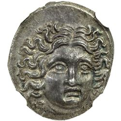 MACEDONIAN KINGDOM: Perseus, 179-168 BC, AR drachm. NGC MS