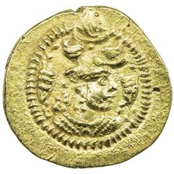 SASANIAN KINGDOM: Peroz, 457-484, AV dinar (3.70g), BBA (the Court mint), ND. EF