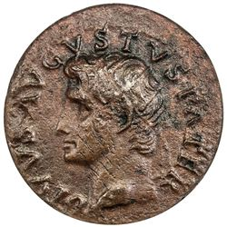 ROMAN EMPIRE: Tiberius, 14-37 AD, AE as. ANACS VF20