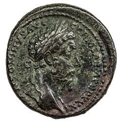 ROMAN EMPIRE: Marcus Aurelius, 161-180 AD, AE as (12.02g). VF