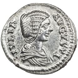ROMAN EMPIRE: Julia Domna, wife of Septimius Severus, AR denarius (2.67g). EF-AU