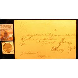 May 18, 1781 Promissory Note for 30 Pounds, drawn in the State of Connecticut; & 1946 P Walking Libe