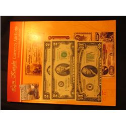 """Sept. 10-12, 2007 Anniversary Sale Lyn Knight Currency Auctions Catalog""; pair of (2) Series 1976 $"