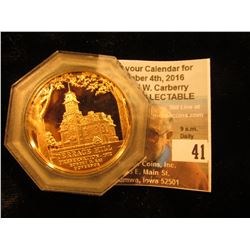 1972 Terrace Hill Bronze Proof Medallion in original plastic case.