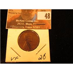 1922 D Lincoln Cent. VF. Key date.