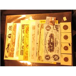 1889, 1890, 93, & 1907 U.S. Liberty Nickels; & (10) Advertising Banknotes.