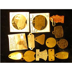 (16) different metal Dog Tags from 1950-70 era.