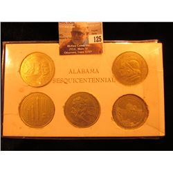 1819-1969 Five-piece Set of Alabama Sesquicentennial Medals in a special holder. each measures 35mm,