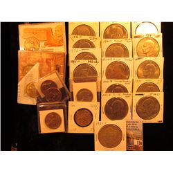 (8) Mixed Sacagawea, Susan B. Anthony, & Presidential Dollars, some in plastic cases, and special ho