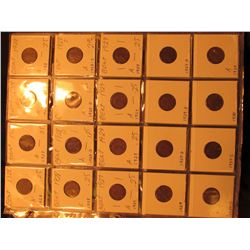 Three-Ring Binder with (7) Plastic Stock Pages of Lincoln Cents dating 1928-1935.