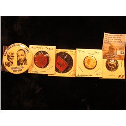 "(5) Scarce Pin-backs: ""Kellog's Junior Admakers Guild""; ""The Dream Still Lives August 27th 1963-1983"