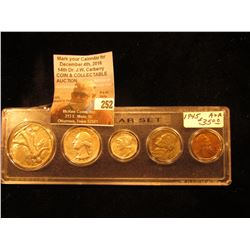 1945 U.S. Year Set of Coins. Five pieces in a plastic Whitman holder. All coins EF or better. Cent t