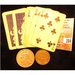 "(9) Little Orphan Annie Playing Cards, 'Doc' priced these at $4 each; ""Good For One Quart of Milk"" C"