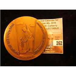 """60mm High relief Bronze Medal """"Armed Vanguard of Israel's Sons"""", :The First Judeans 1917-1967""""."""