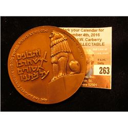 "60mm High relief Bronze Medal ""For the Builders Everyone had his sword Girded by His side"", ""Peace B"