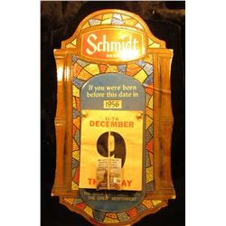 Schmidt Beer Advertising Legal Age Calendar for the year 1977.